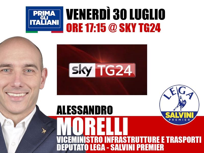 Alessandro Morelli a Economia (Sky TG24)