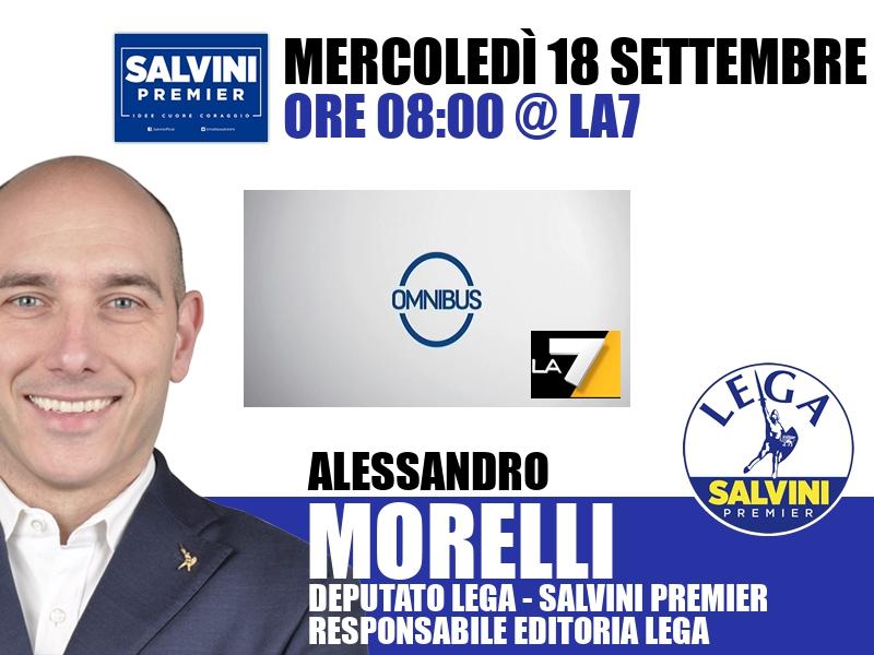 Alessandro Morelli a Omnibus (La7)