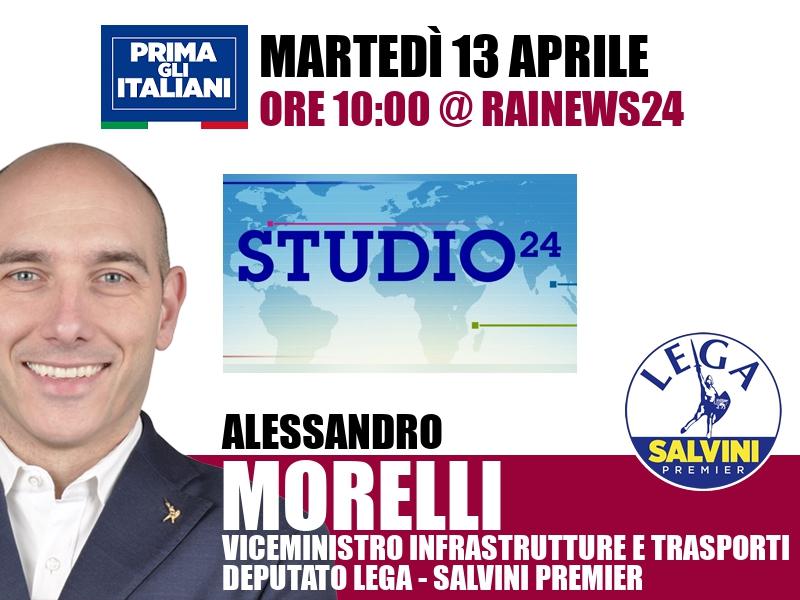 Alessandro Morelli a Studio24 (RaiNews24)