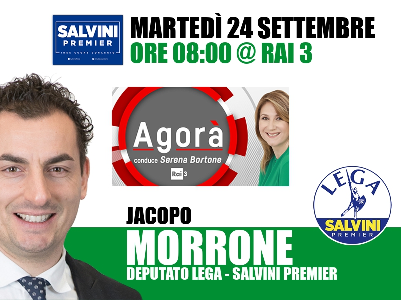 Jacopo Morrone a Agorà (Rai 3)