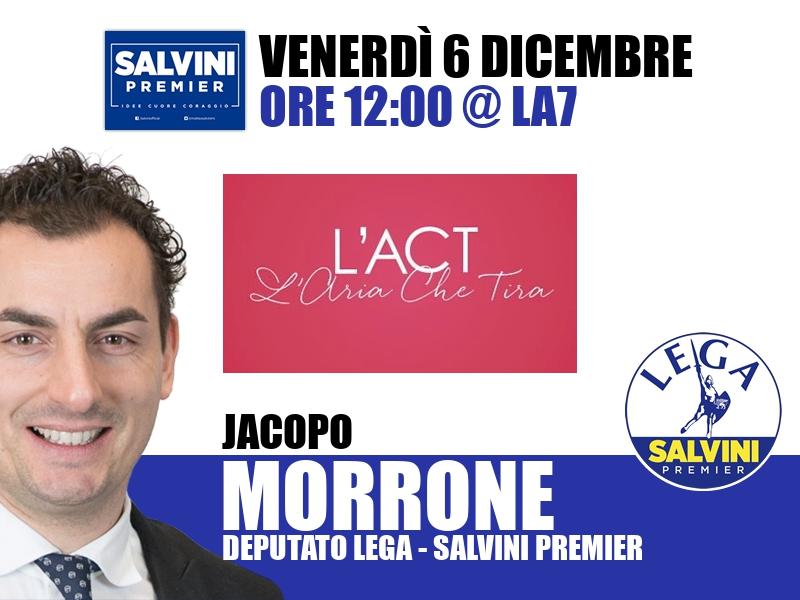 Jacopo Morrone a L'Aria che Tira (La7)
