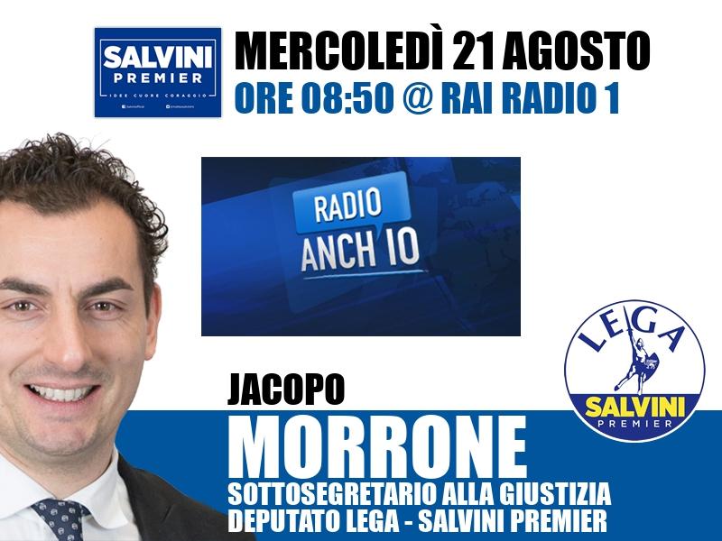 Jacopo Morrone a Radio Anch'io (Rai Radio 1)
