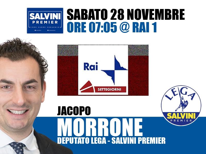 Jacopo Morrone a Settegiorni (Rai 1)