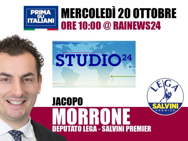 Jacopo Morrone a Studio24 (RaiNews24)