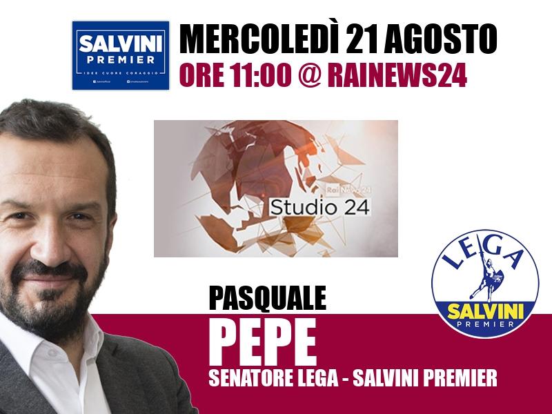 Pasquale Pepe a Studio24 (RaiNews24)