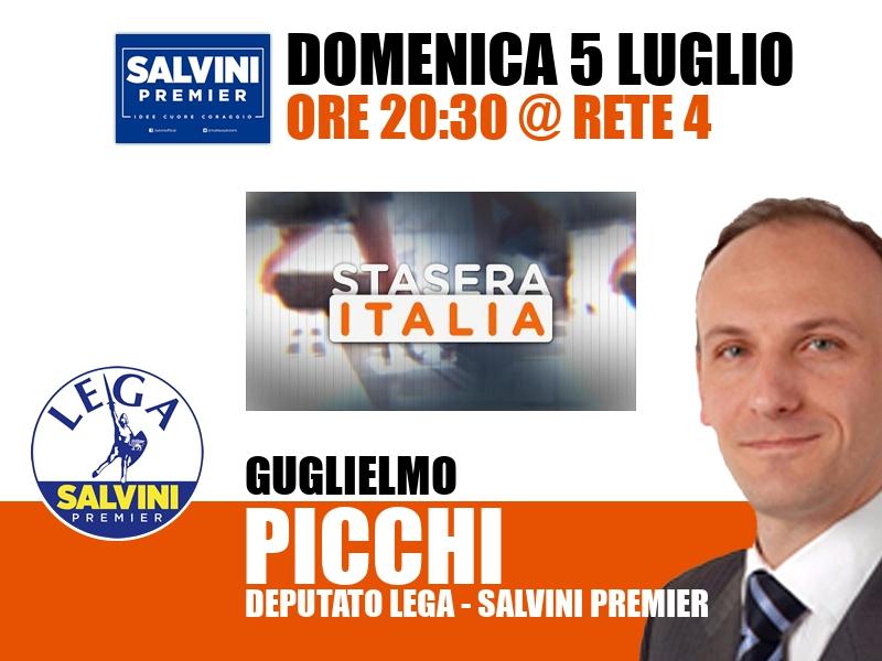 Guglielmo Picchi a Stasera Italia (Rete 4)