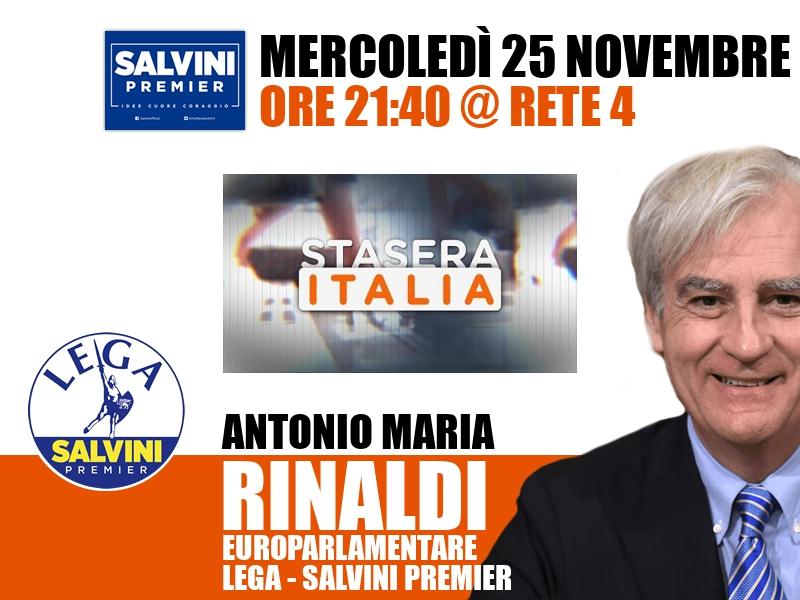 Antonio Maria Rinaldi a Stasera Italia (Rete 4)