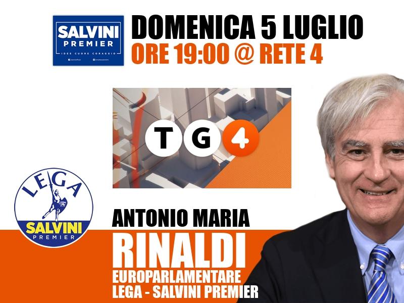 Antonio Maria Rinaldi a TG4 (Rete 4)