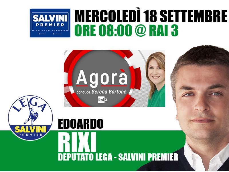 Edoardo Rixi a Agorà (Rai 3)