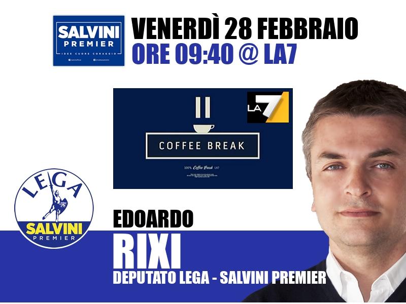 Edoardo Rixi a Coffee Break (La7)