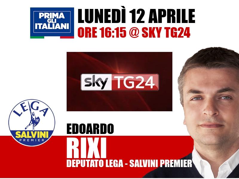 Edoardo Rixi a Economia (Sky TG24)