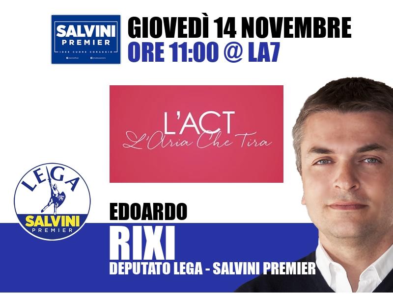 Edoardo Rixi a L'Aria che Tira (La7)
