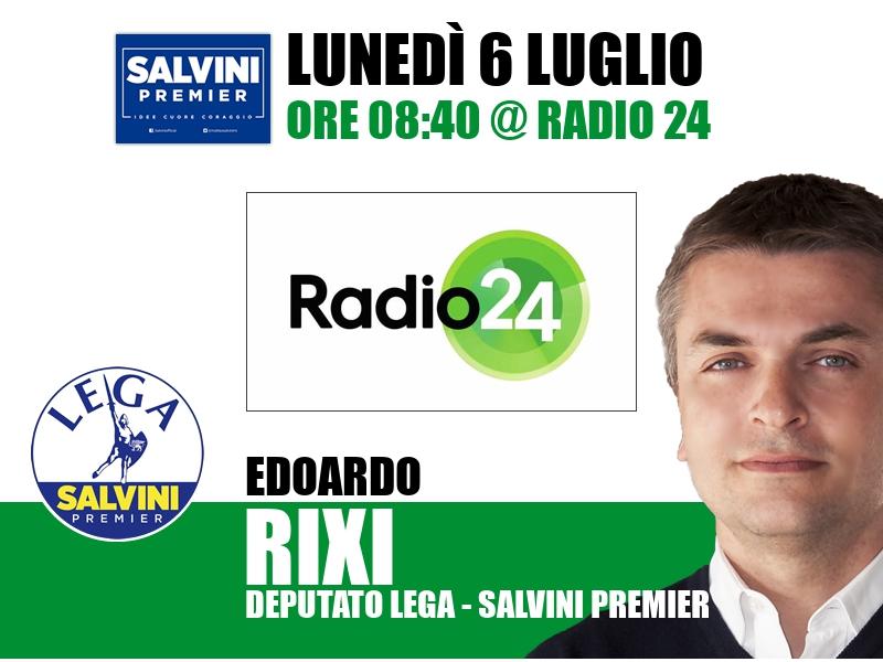 Edoardo Rixi a Radio 24 (Radio 24)