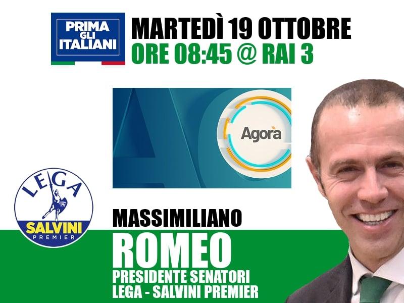 Massimiliano Romeo a Agorà (Rai 3)