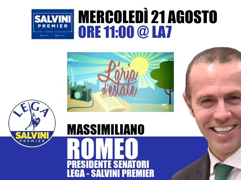 Massimiliano Romeo a L'Aria d'Estate (La7)
