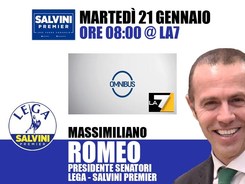 Massimiliano Romeo a Omnibus (La7)