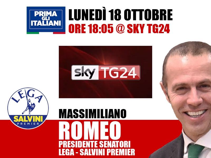 Massimiliano Romeo a SkyTG24 (Sky TG24)