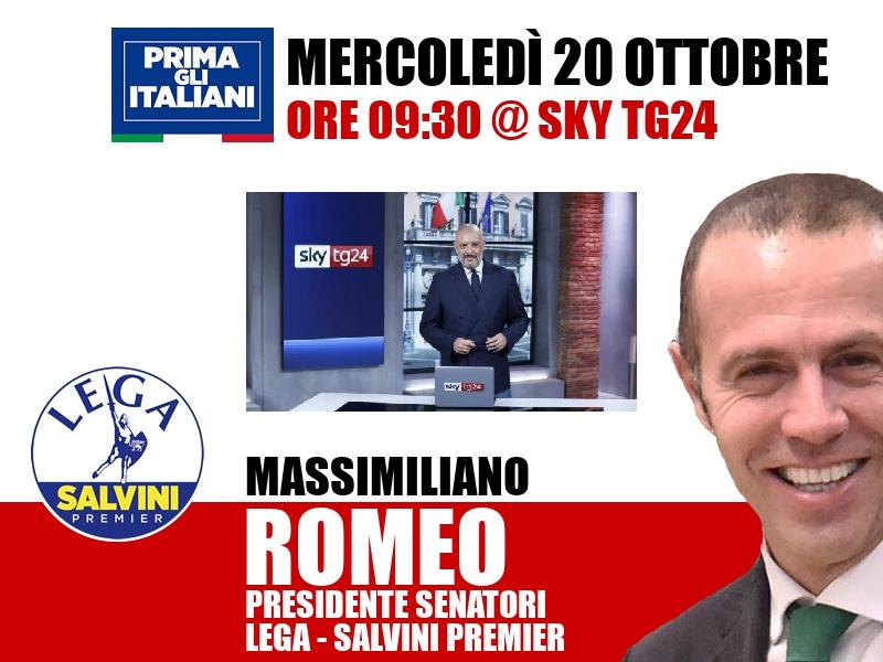 Massimiliano Romeo a Start (Sky TG24)