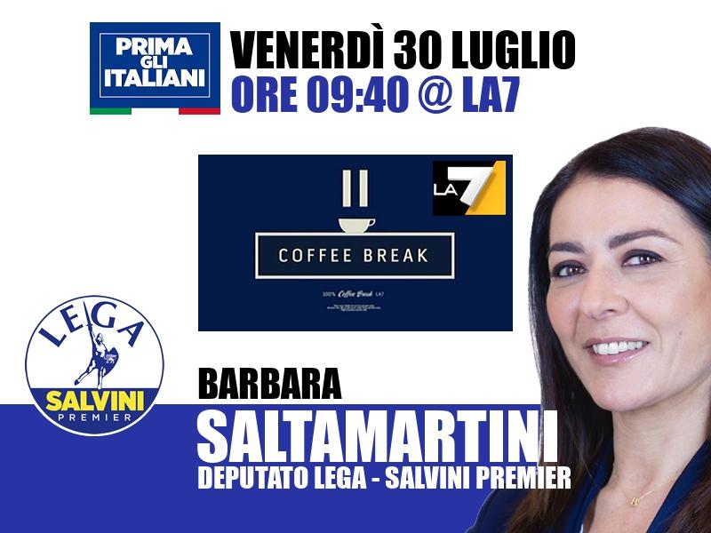 Barbara Saltamartini a Coffee Break (La7)