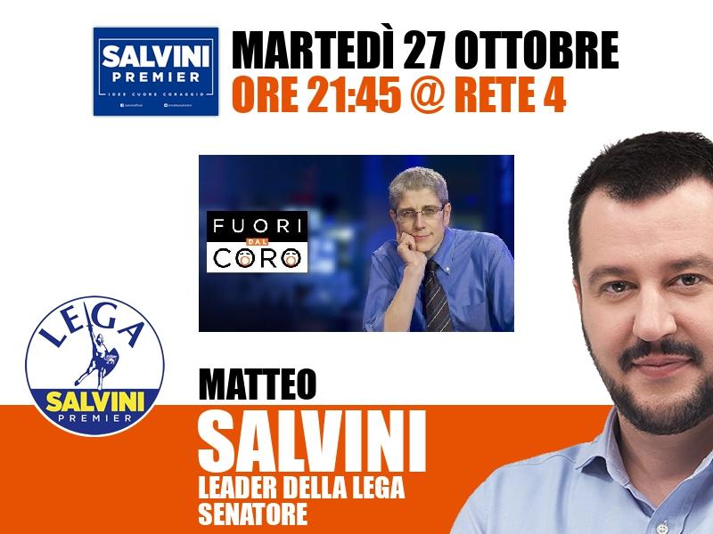 Matteo Salvini a Fuori dal coro (Rete 4)