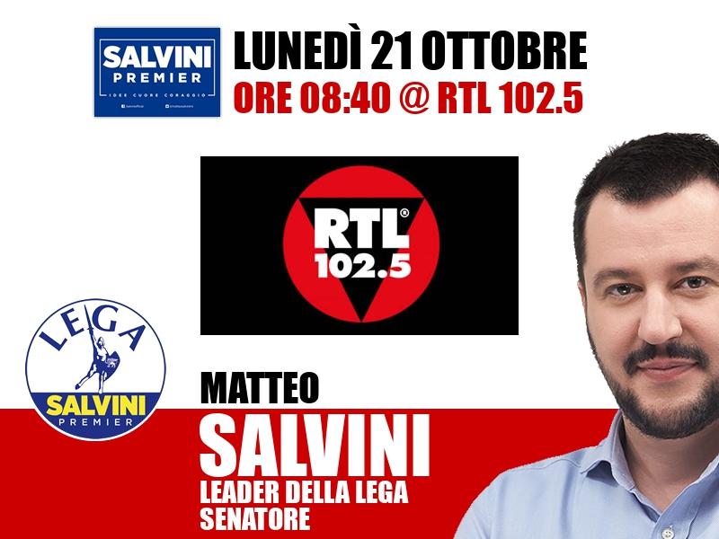 Matteo Salvini a Non Stop News (RTL 102.5)