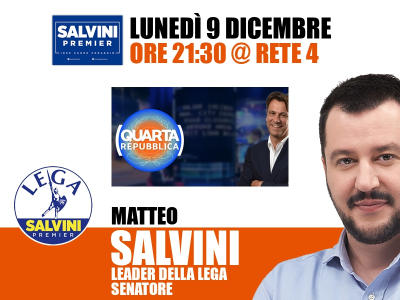 Matteo Salvini a Quarta Repubblica (Rete 4)