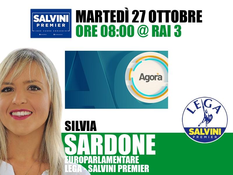 Silvia Sardone a Agorà (Rai 3)