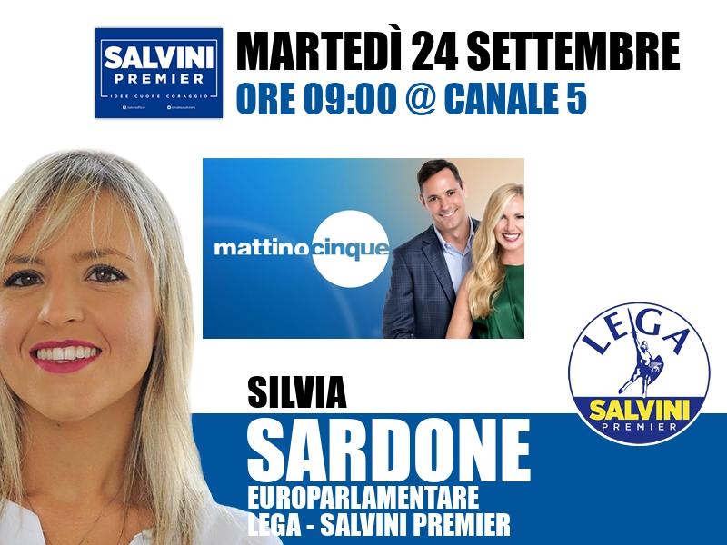 Silvia Sardone a Mattino Cinque (Canale 5)