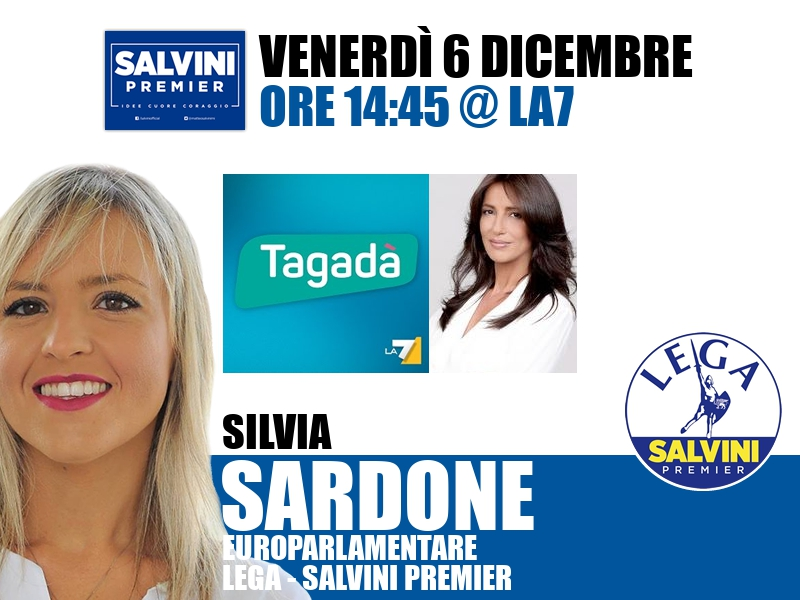 Silvia Sardone a Tagadà (La7)