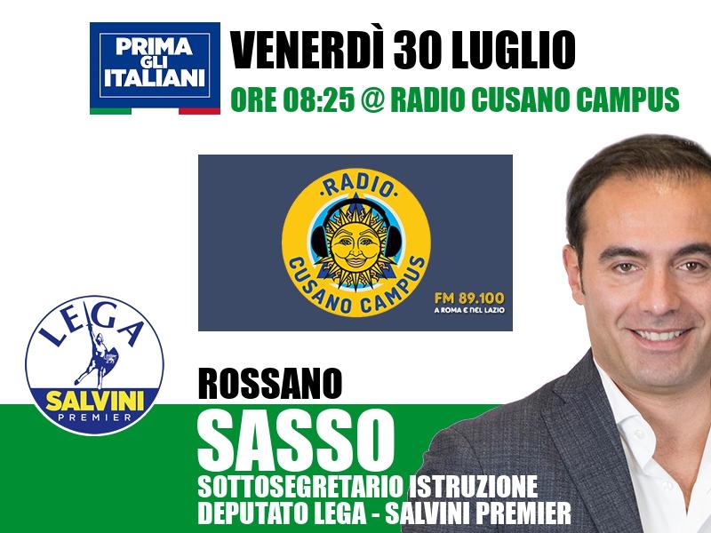 Rossano Sasso a L'Italia s'è desta (Radio Cusano Campus)