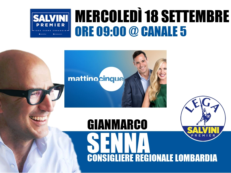 Gianmarco Senna a Mattino Cinque (Canale 5)