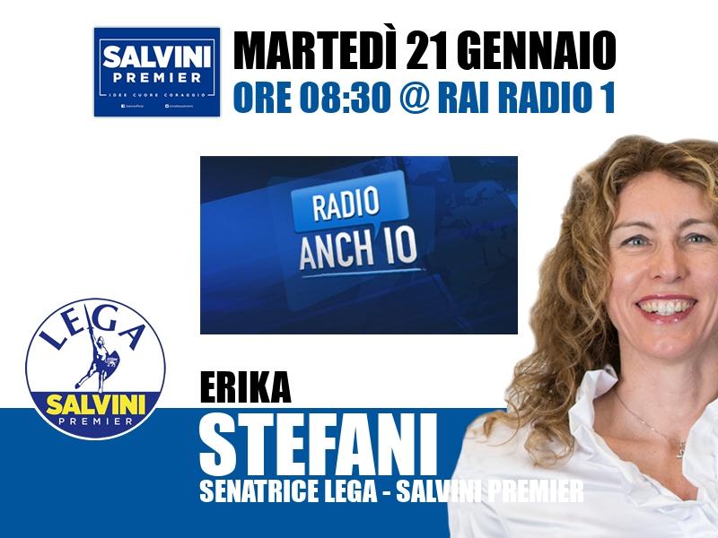 Erika Stefani a Radio Anch'io (Rai Radio 1)