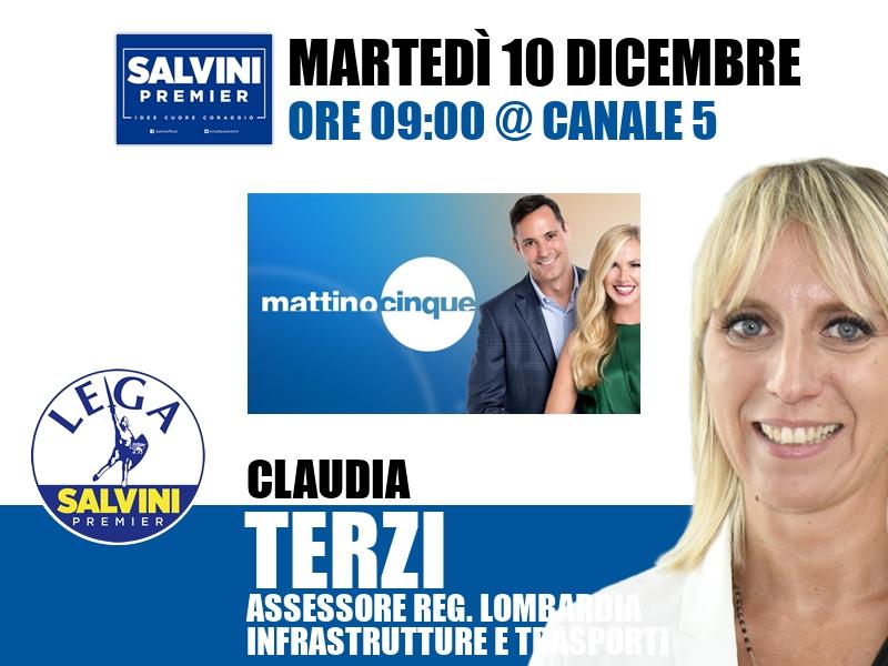 Claudia Terzi a Mattino Cinque (Canale 5)