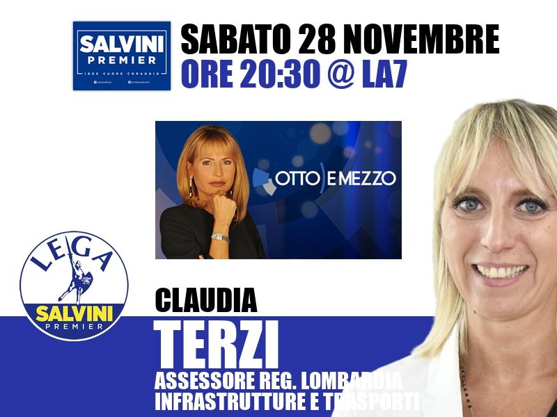 Claudia Terzi a Otto e Mezzo (La7)