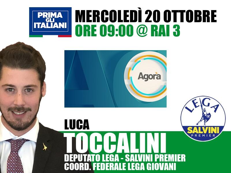 Luca Toccalini a Agorà (Rai 3)