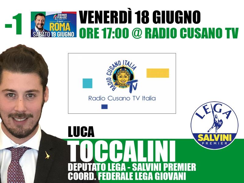 Luca Toccalini a Radio Cusano TV (Radio Cusano TV)