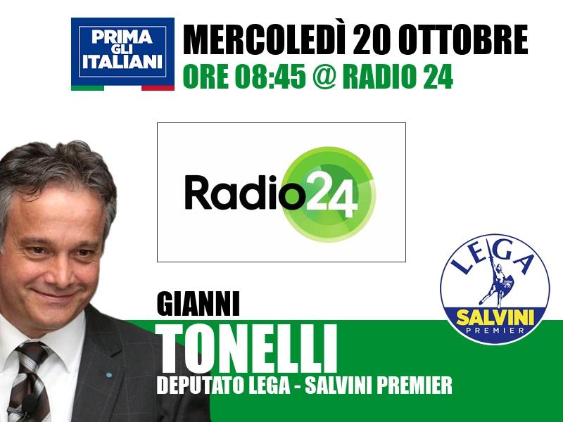 Gianni Tonelli a Radio 24 (Radio 24)
