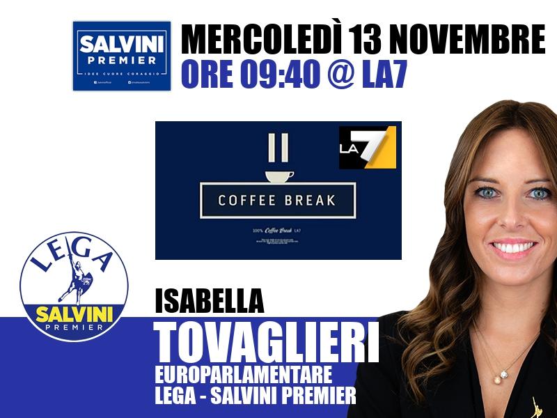 Isabella Tovaglieri a Coffee Break (La7)