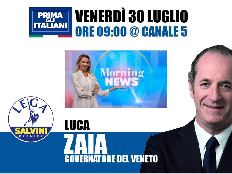Luca Zaia a Morning News (Canale 5)