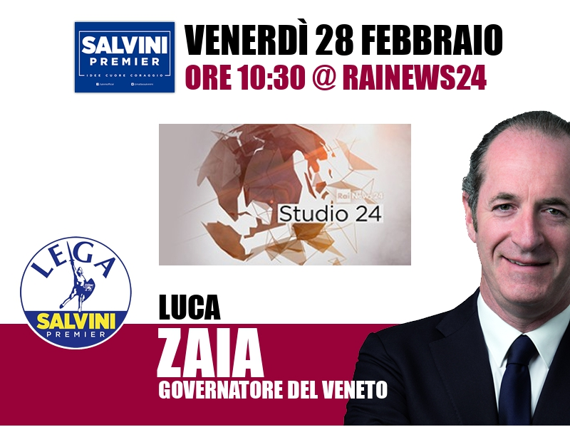 Luca Zaia a Studio24 (RaiNews24)